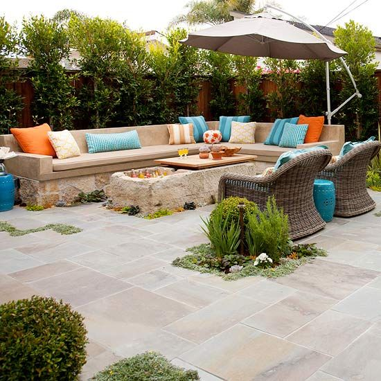 Love the built-in stone seating