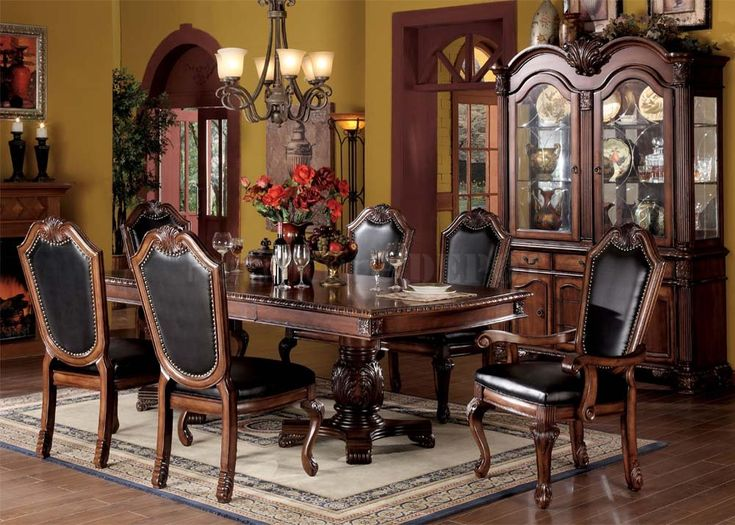 formal dining room chairs black