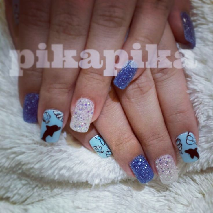 sea shell, dolphin and shinen gel nail  #nails #nail #fashion #style #TagsForLikes #cute #beauty #beautiful#instagood #pretty #girl #girls #stylish #sparkles #styles #gliter #nailart #art #opi#photooftheday #essie #unhas #preto #branco #rosa #love #shiny #polish#nailpolish #pikapika_nails