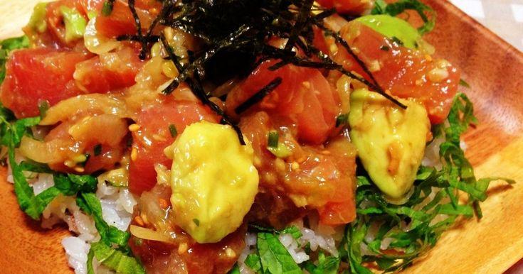 ハワイのディズニーアウラニリゾートのレストランで食べたアヒポキが美味しすぎて、夫のリクエストにより丼にして再現しました!