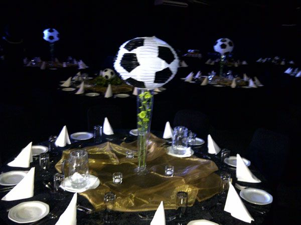Chinese lantern soccer ball on top of glass vase www.iceevents.