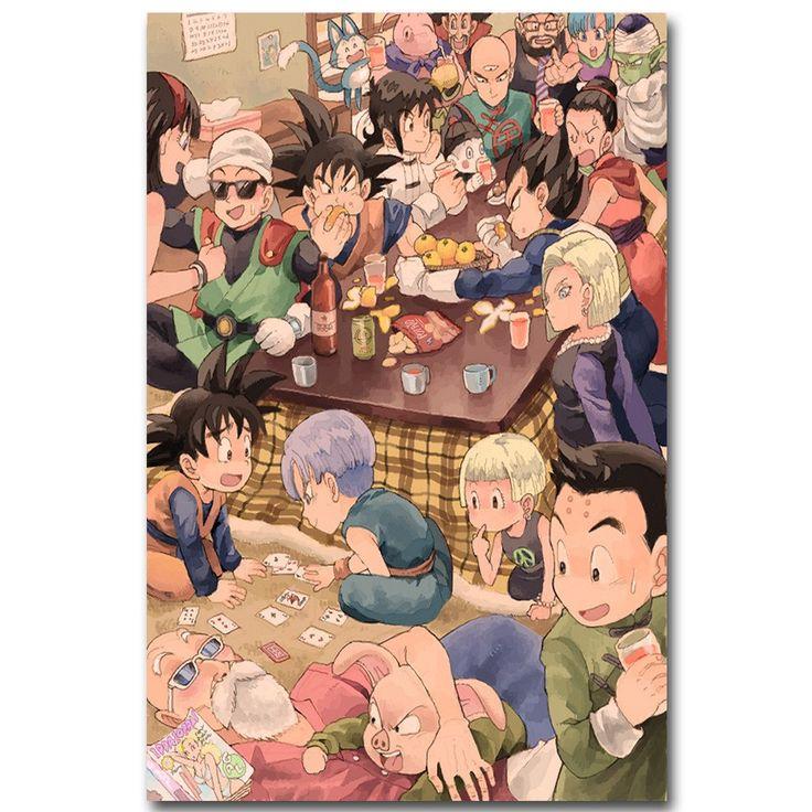Dragon Ball Z Art Silk Fabric Poster Print 13x20 inch Japanese Anime Goku Picture for Living Room Wall Decor Gift 014