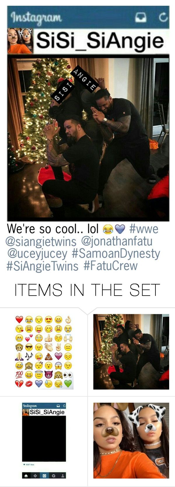 """""""(Late) Sianney holiday post on her personal IG account"""" by dani-loves-wwe-music ❤ liked on Polyvore featuring art"""
