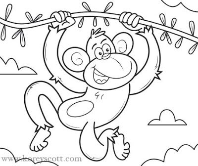 12 best Something to draw images on Pinterest To draw, Coloring - best of coloring pages with monkeys