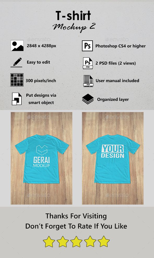 Download Features2 Views 2 Psd Files Resolution 300 Pixels Inch Changeable T Shirt Color Put Your Design Using Smart Object User Ma Tshirt Mockup Shirt Mockup Mockup