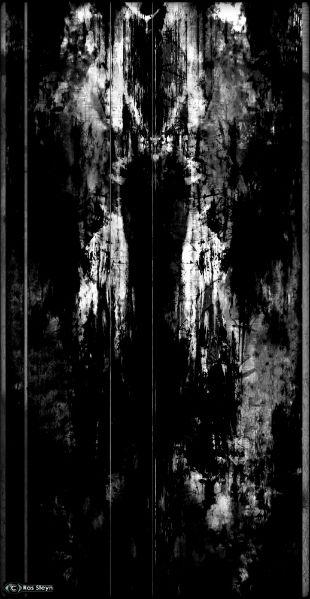 A Digitalised Study of Sacred Black Bilateral Remains by Omni-Surrealist Ras Steyn :South Africa - Eastern Cape