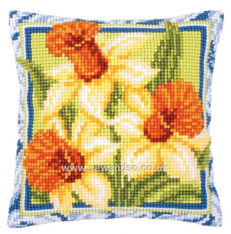 Shop online for Daffodils Cushion Front Chunky Cross Stitch Kit at sewandso.co.uk. Browse our great range of cross stitch and needlecraft products, in stock, with great prices and fast delivery.
