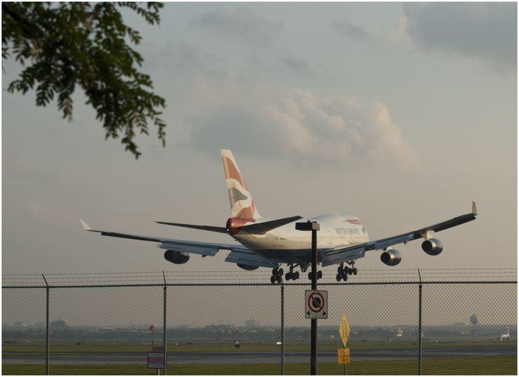 British Airways (BA) landing at YYZ (Toronto)