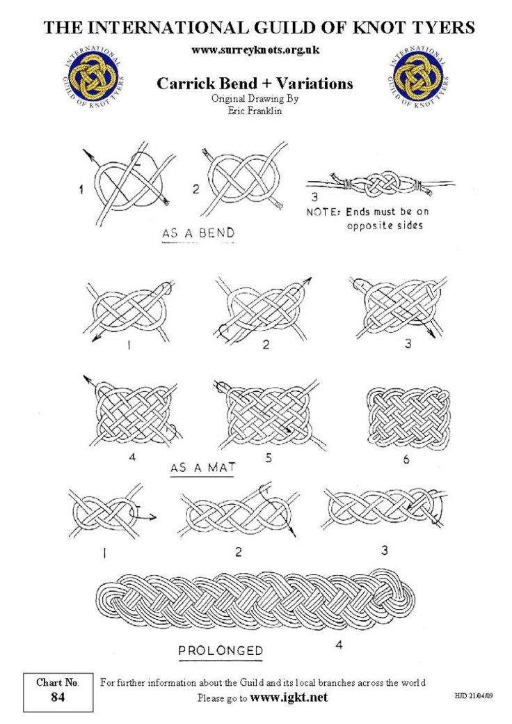 carrick bend and variations