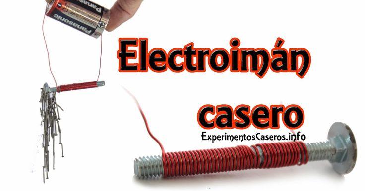 Hoy vamos a aprender a hacer un sencillo electroimán casero con unos pocos materiales muy fáciles de conseguir. Es un experimento que p...