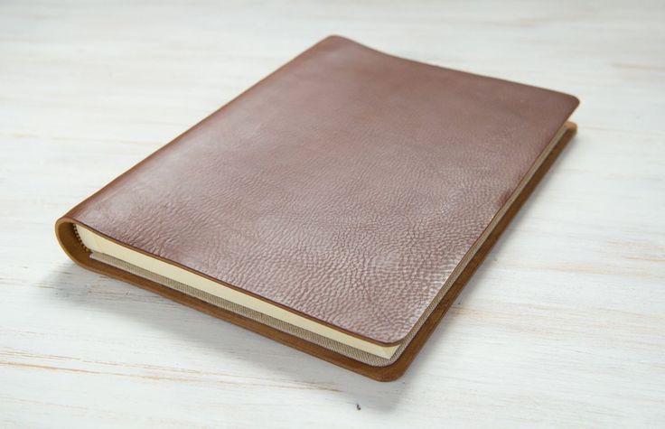 Custom bown Leather Wedding Album by H&Co
