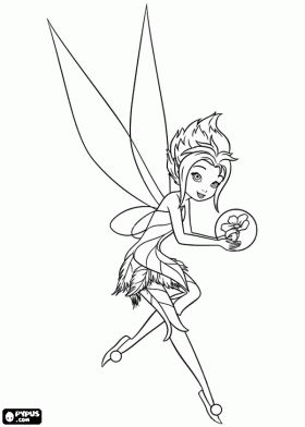 A Disney Winter Fairy Coloring Page