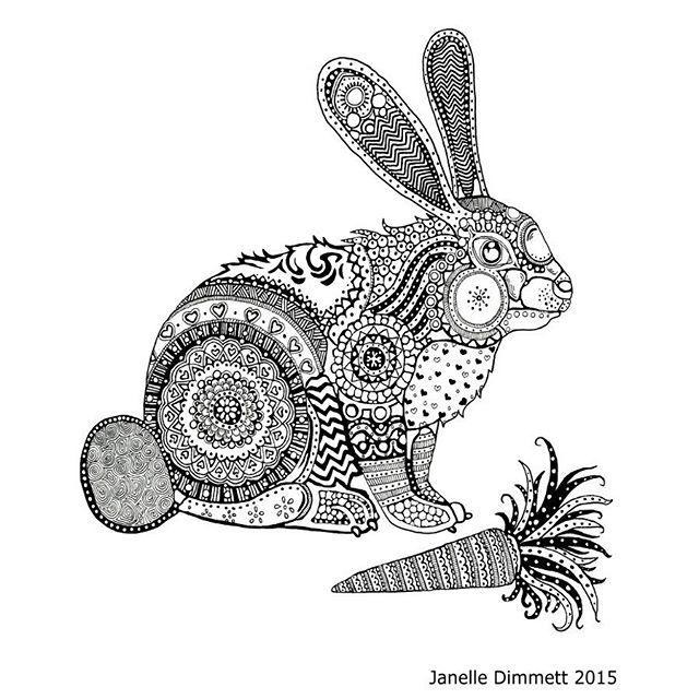 237 besten coloring rabbit Bilder auf Pinterest | Anti-stress ...