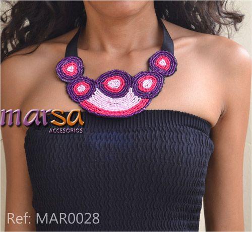 Mira aquí una idea de un collar con mostacilla. Collar para mujer. Obténlo ahora. Realizamos envío a toda Colombia.