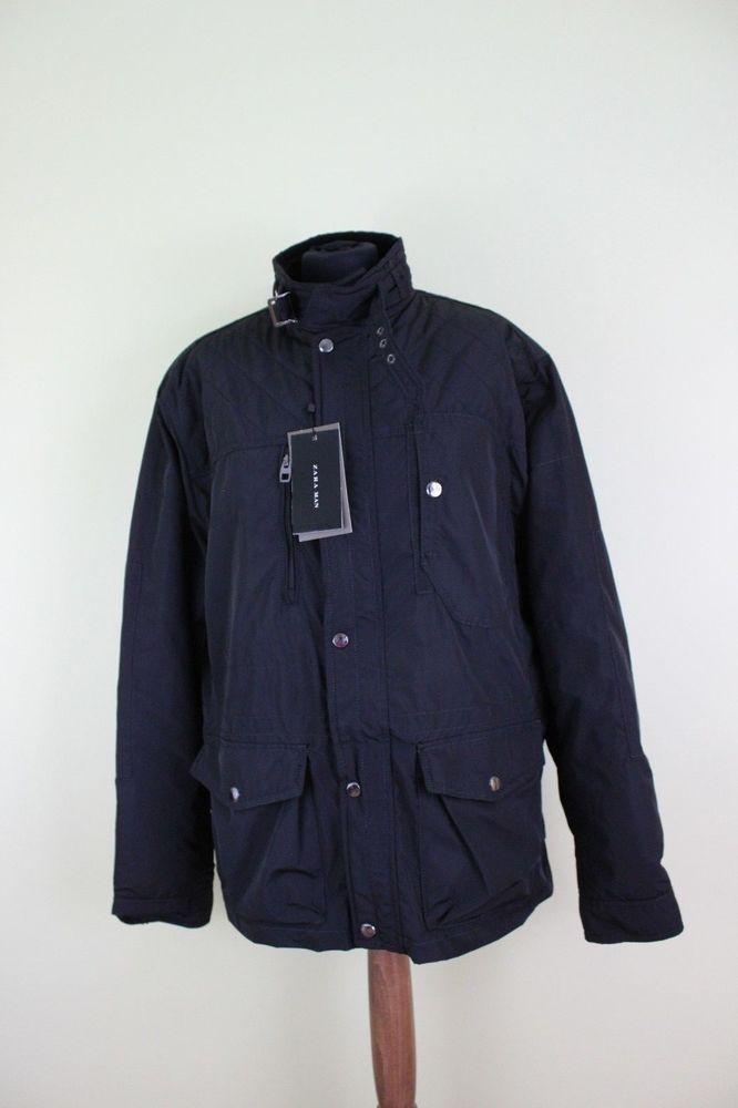 ZARA black spring man jacket coat size XXL UK 18 #Zara