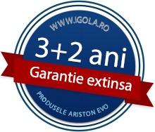 Garantia extinsa de la 3 la 5 ani este valabila doar pentru centralele Ariston, modelele Genus Premium Evo, Genus Premium Evo System, Clas Evo si Clas Evo System. Oferta esta valabila pana la 30.09.2013.