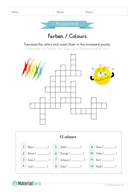 neu ein kostenloses englisch arbeitsblatt zum thema farben colours f r die grundschule auf. Black Bedroom Furniture Sets. Home Design Ideas