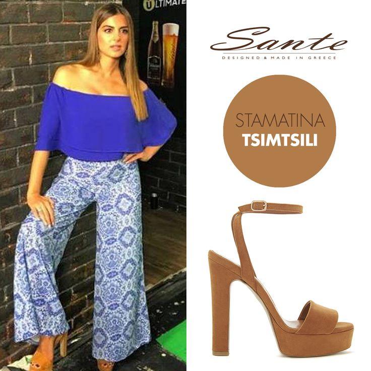 Stamatina Tsimtsili (@stam_tsimtsili) in SANTE High Heels (SKU-91831) styling by Antonios Voerakos (@antoniosvoerakos) #SanteSS16 #CelebritiesinSante Available in stores & online: www.santeshoes.com
