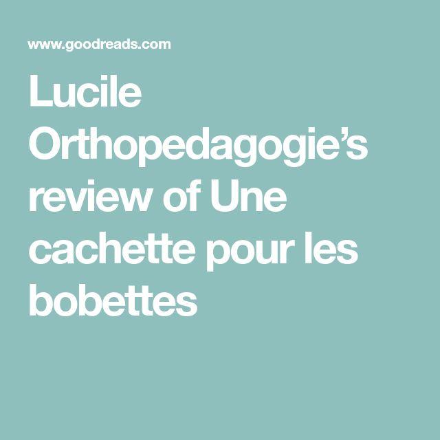 Lucile Orthopedagogie's review of Une cachette pour les bobettes