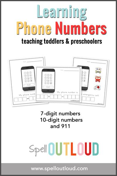 Learning Telephone Numbers Free Printable from Spell Outloud