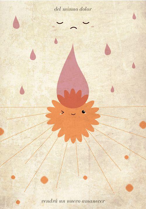 Ilustración / diseño inspirado en esta canción de Gustavo Cerati