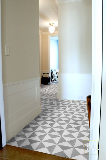 WHITE + GOLD: CEMENT TILE