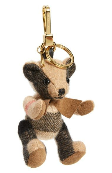 Burberry 'Thomas Bear' Check Cashmere Bag Charm available at #Nordstrom