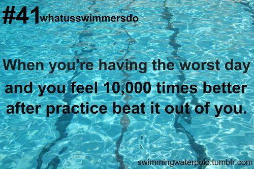 This is why I make my kids go to swim when they are having a down day!