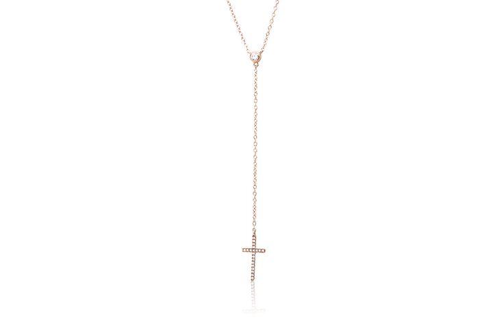 Κολιέ με διαμάντια μπριγιάν κοπής 0,10CT από λευκόχρυσο 18Κ Necklace with brilliant cut diamonds 0,10CT made by 18K white gold. Price : 450 €