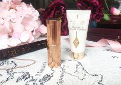 Charlotte Tilbury Matte Revolution Lipstick Very Victoria and Goddess Skin Clay Mask Sample