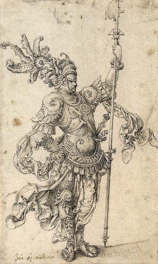 Πολεμιστής ενός φανταστικού στρατού με ένα δόρυ με πελέκι (1509)