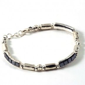 Athena silver bracelet for men