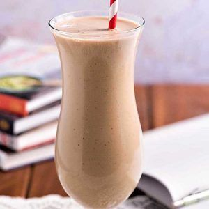 Breakfast Coffee Banana Smoothie! Kick start your morning (or your afternoon or evening!) with this easy smoothie made with bananas, yogurt, and Folgers Instant Coffee. It's the perfect indulgence whenever you need a quick pick-me-up! #recipe #tip #Folgers #ad | HomemadeHooplah.com