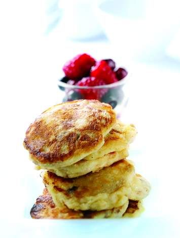 Muesli Pancakes with Summer Berry Compote