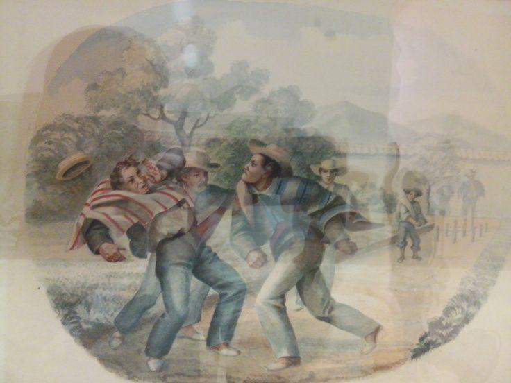 ramon torres mendez  bogota 1809-1885 reyerta un juego de bolo  (divercion popula) 1870