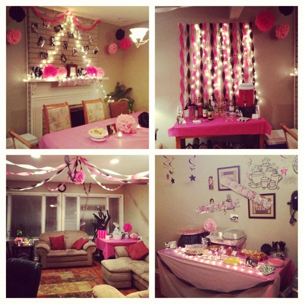 Bachelorette party decorations change the pink to purple= perfect for Sandy!