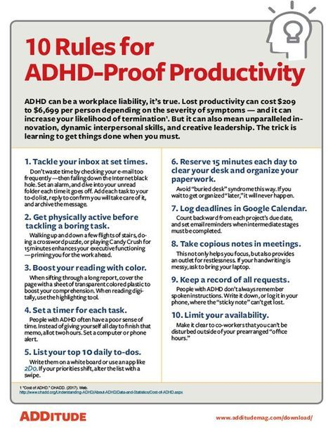 Sure, ADHD makes it harder to get organized or stay focused. But it can also mean dynamic interpersonal skills, and creative leadership. Use these tips to tap into the right zone at work.