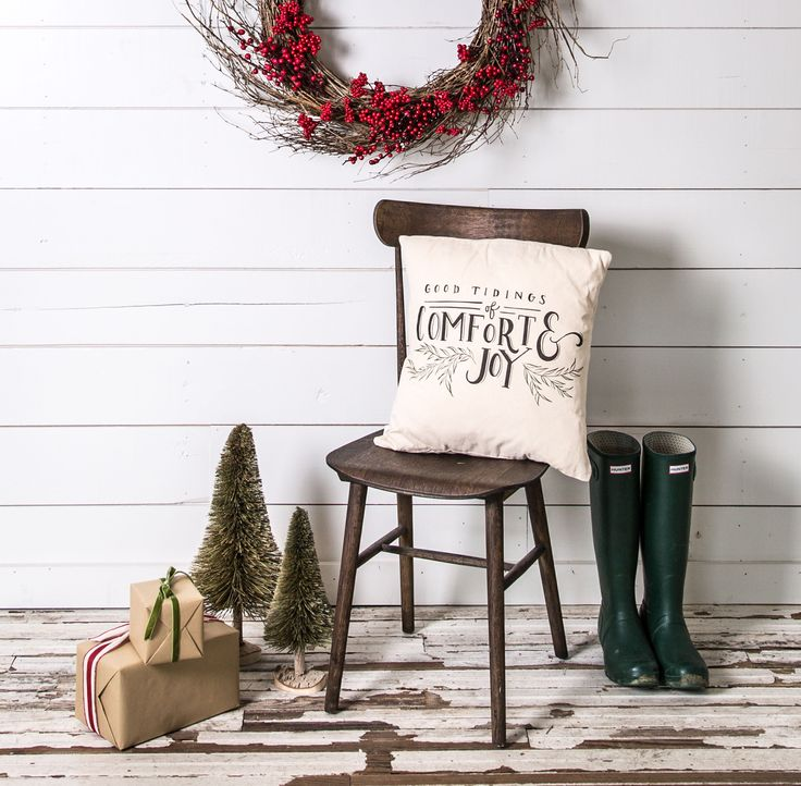 """Good Tidings"" Pillow - Magnolia Market 