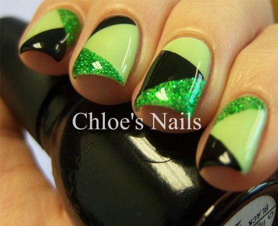 Chloe's Nails: St. Patty Patchwork: Nail Hero, Nail Polish, Nailart, Green, Nail Designs, Makeup, Chloe S Nails, Scotch Tape, Nail Art
