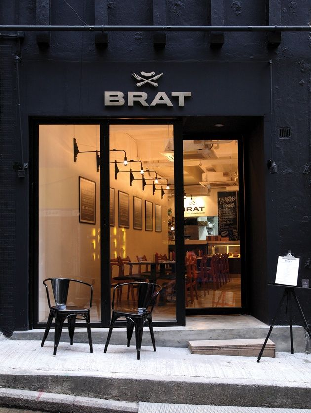 V chem sila brat black pinterest restaurant design for Cafe exterior design