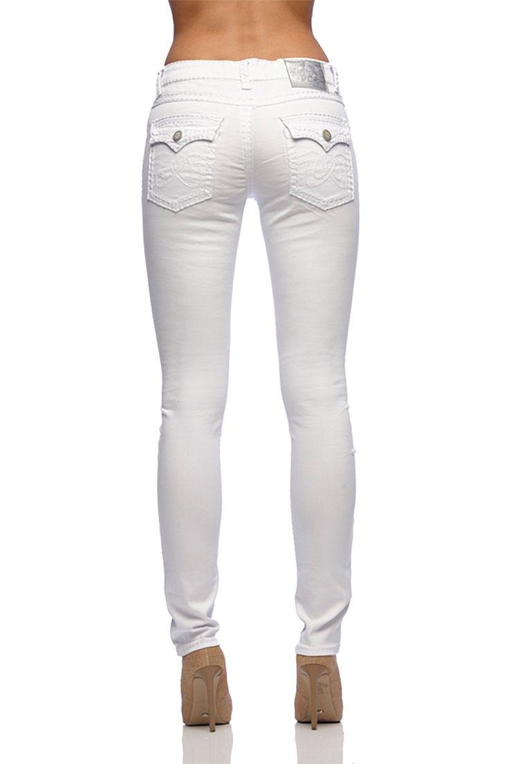 New London - Chelsea White Taper Jeans