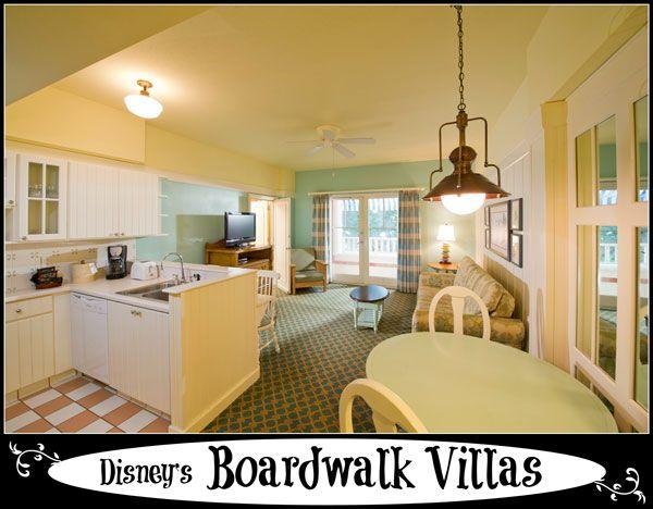 Disneys Boardwalk Villas Walt Disney World Resort  on Disney Resort 3 Bedroom Floor Plans