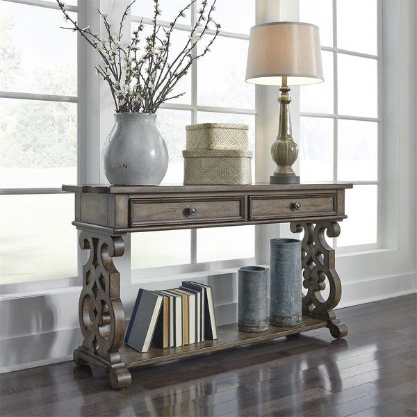 Gandy Console Table Hall Table Decor Sofa Table Decor Liberty Furniture