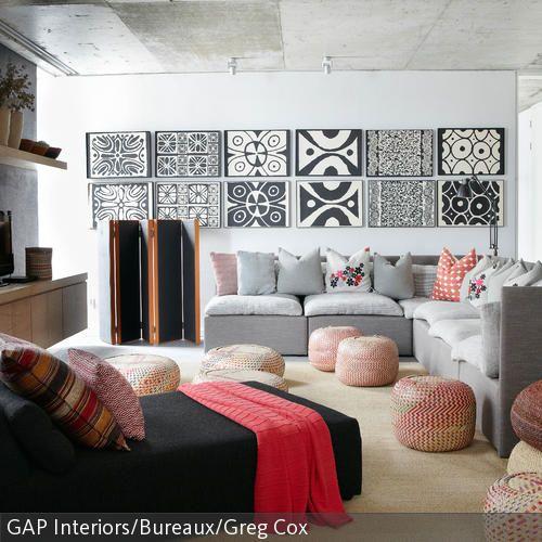 25+ best ideas about wandbilder schwarz weiß on pinterest ... - Wohnzimmer Schwarz Weis Pink