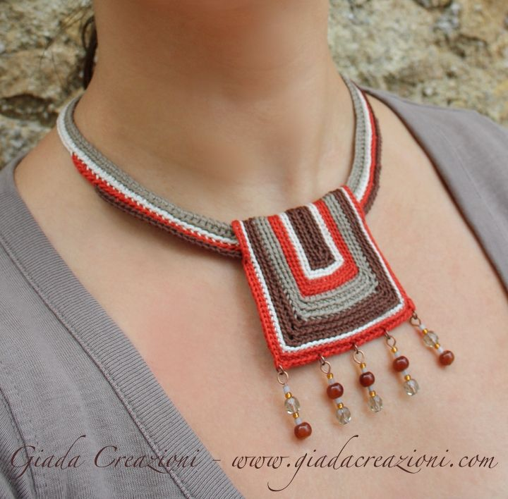 Idea diseño collar ganchillo  -  Crochet Necklace Design Idea
