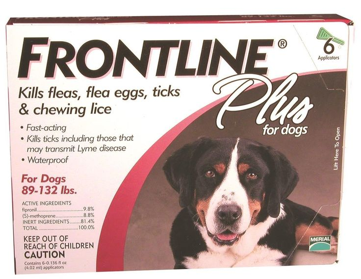 Merial Frontline Plus for Dogs, 89-132 lbs, 6 Doses => For more information, visit now : Flea and Tick Control