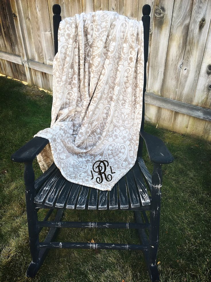 A personal favorite from my Etsy shop https://www.etsy.com/listing/495154667/personalized-throw-blanket