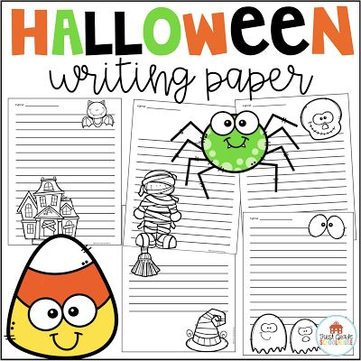 Halloween Writing Paper  Hi everyone! Happy October! Is the excitement of Halloween already being shared in conversations in your classroom? Talks of costumes trick or treating and our fall carnival are all topics of discussions this week in my classroom. I'm preparing our writing center with some fun Halloween paper. My students love using the special paper for their holiday writing.  These are a packet of lined paper with a Halloween theme. Use these throughout October for the primary grades. Copy the paper in bright Halloween colors and place them at a writing center or thematic center. Your students will love the opportunity to write using the variety of holiday paper.  Click HERE for a FREE download.  1-2 First Grade Schoolhouse Halloween writing paper
