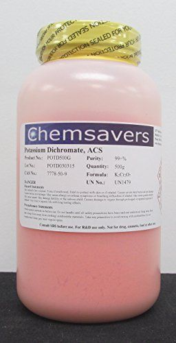 #supersaver #Potassium Dichromate, ACS, 99+%, 500g For Research & Development Not for drug, human, animal, or food use Specifications: Meets ACS Specifications A...