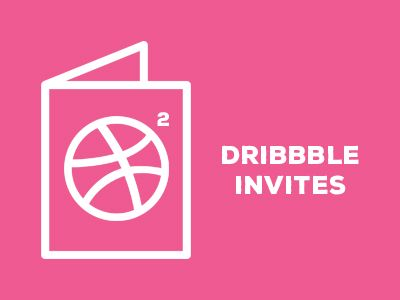 Two Dribbble Invites by Harjot Grewal